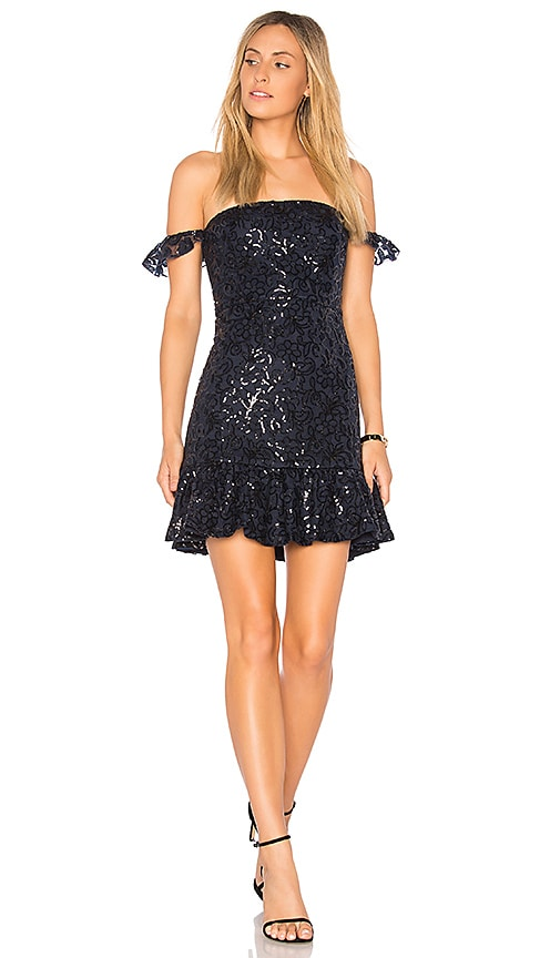 Endless Rose Lace Mini Dress in Navy