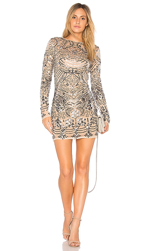 Endless Rose Sequin Mini Dress in Metallic Silver