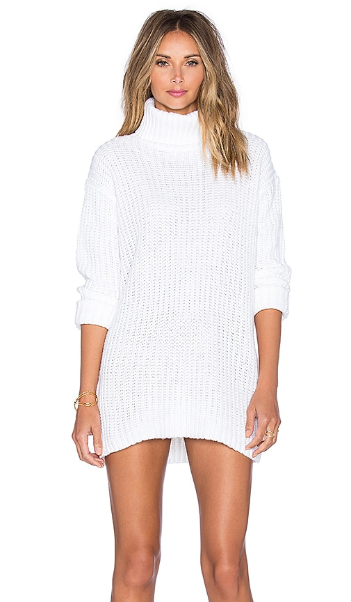 Endless Rose Ginny Sweater Dress in Cream