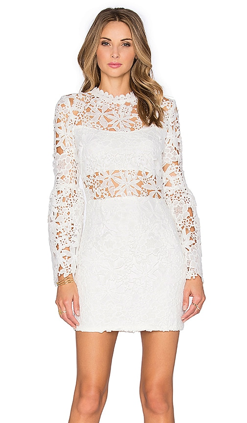 Endless Rose Willamette Lace Dress in Off White