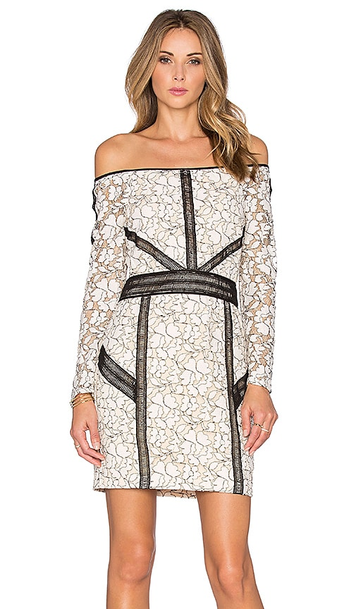 Endless Rose Luxembourg Dress in White & Black