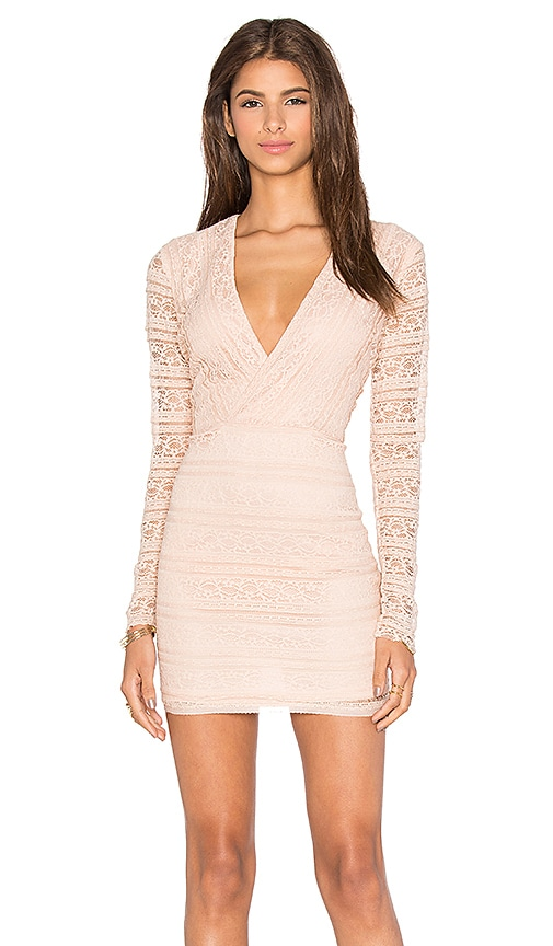 Endless Rose Miamell Woven Dress in Blush