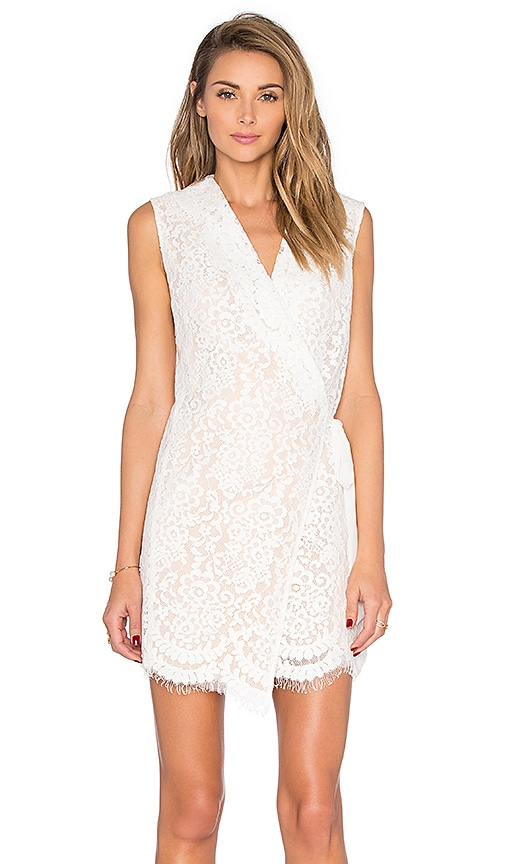Endless Rose Camargue Wrap Dress in Off White