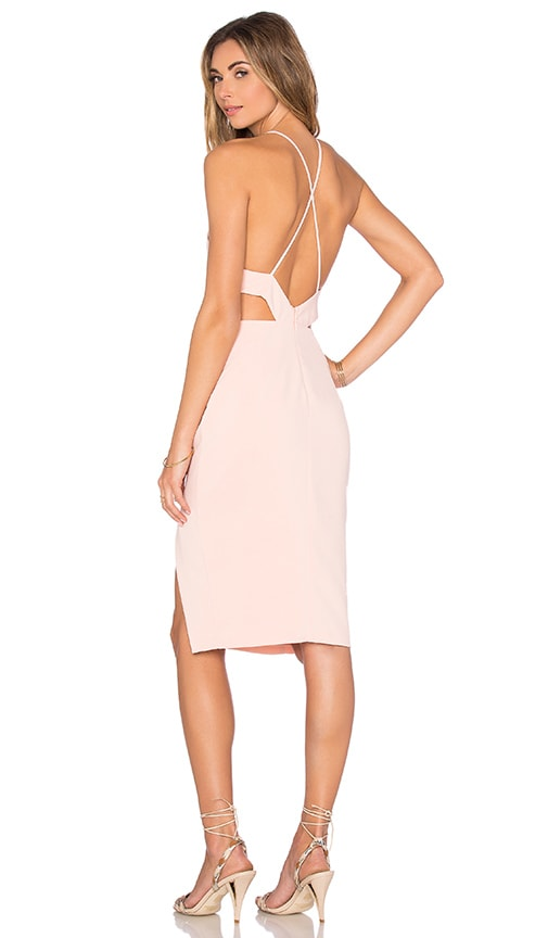 Endless Rose Cutout Woven Dress in Nude Pink