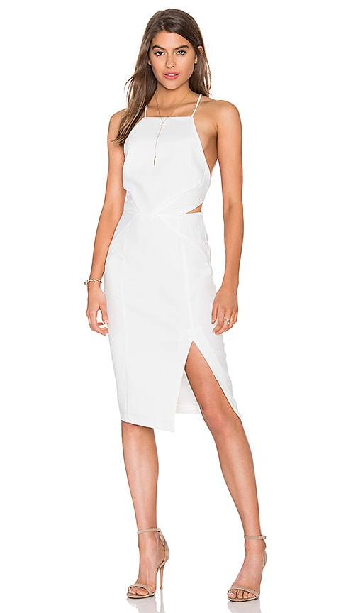 Endless Rose Cutout Woven Dress in White