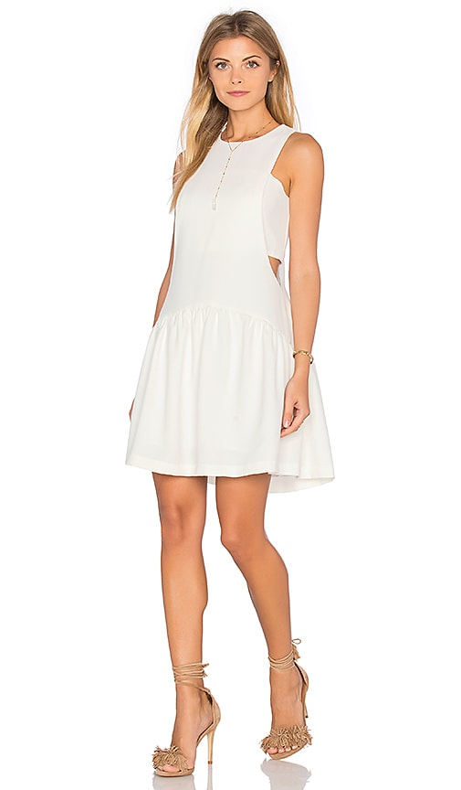 Endless Rose Woven Sleeveless Fit & Flare Dress in Ivory