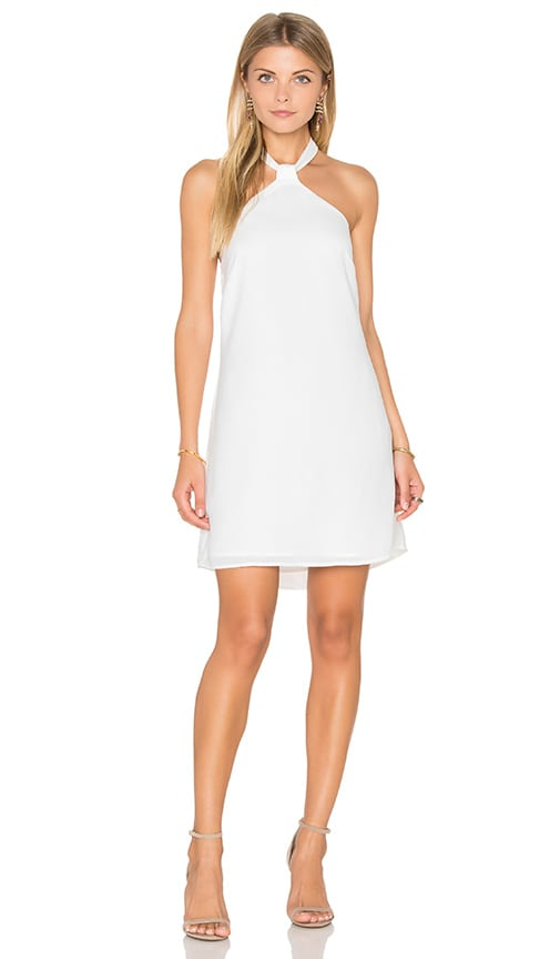 Endless Rose Sleeveless Woven Mini Dress in White