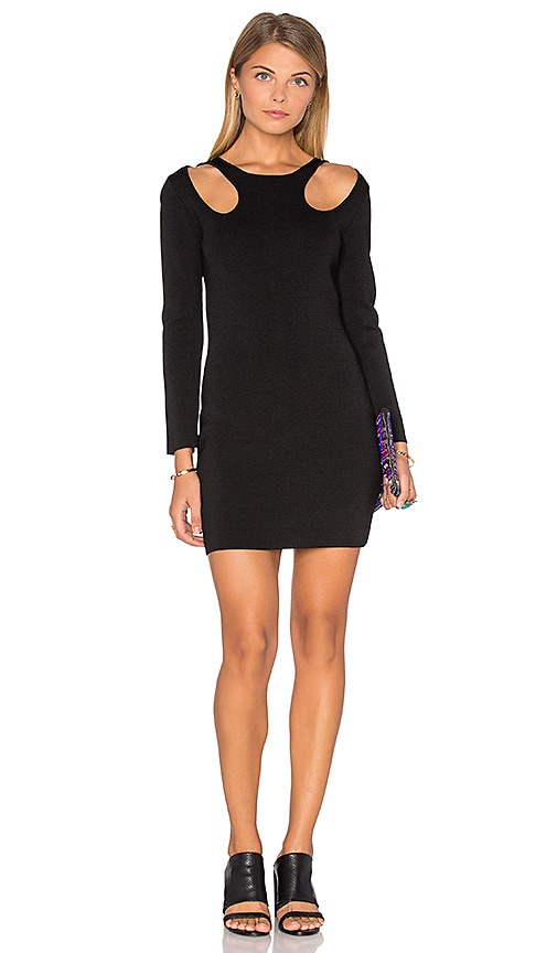 Endless Rose 3/4 Sleeve Bodycon Dress in Black