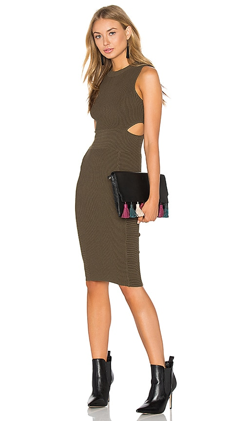 Endless Rose Bodycon Dress in Olive
