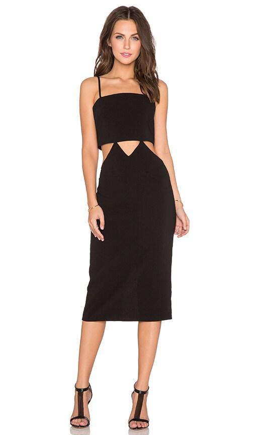 Endless Rose Cutout Midi Dress in Black