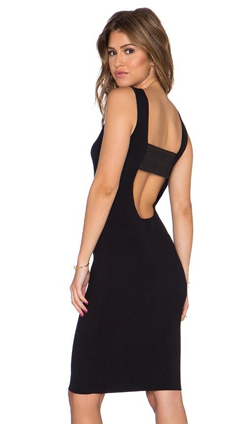 Endless Rose Sleeveless Bodycon Dress in Black