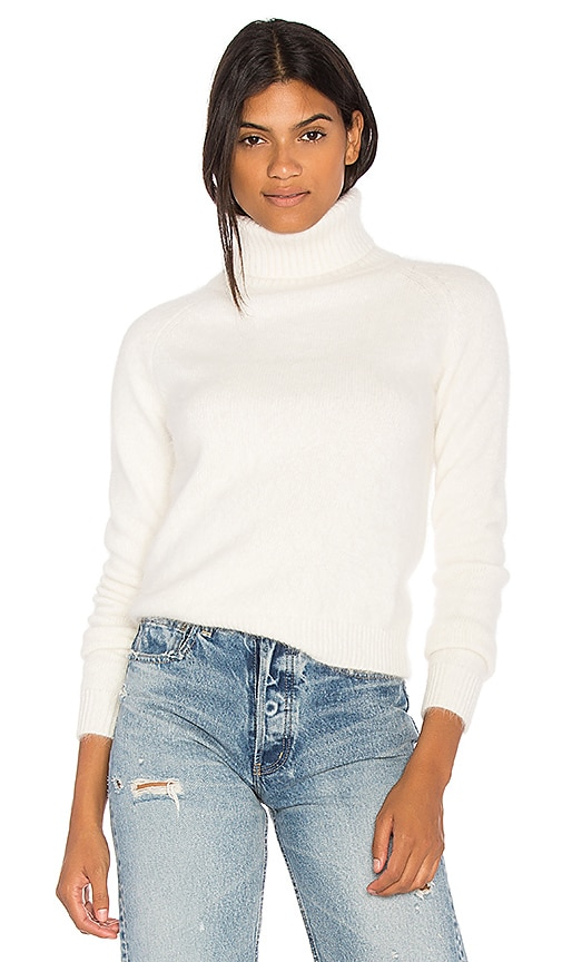 Endless Rose Wide Turtleneck Sweater in White