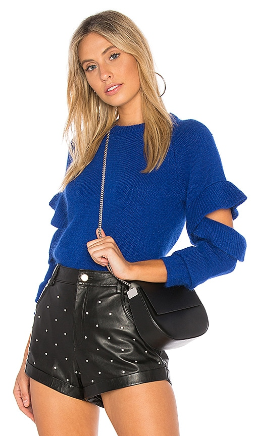 Endless Rose Ruffle Sweater in Blue