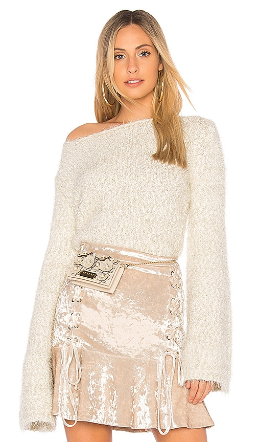 Endless Rose Cropped Sweater in Cream