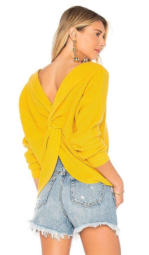 Endless Rose x REVOLVE Back Detail Sweater in Yellow