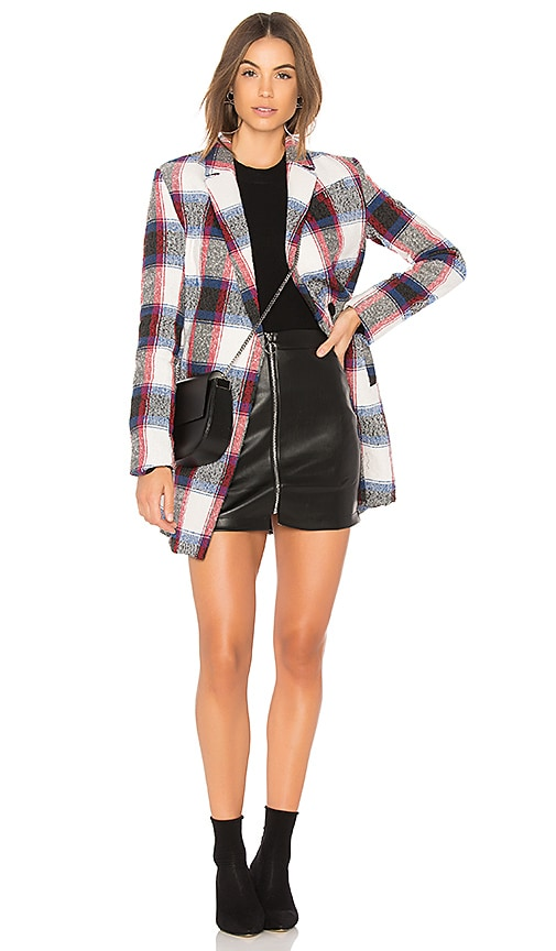 Endless Rose Plaid Jacket in Blue