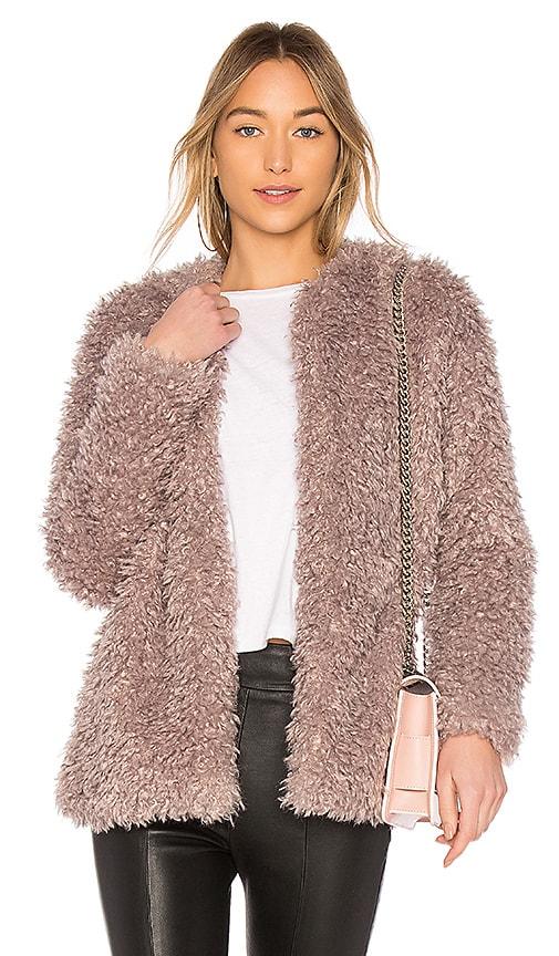 Endless Rose Faux Fur Jacket in Lavender