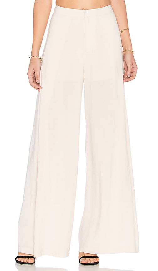 Endless Rose Pleated Pants in Ivory