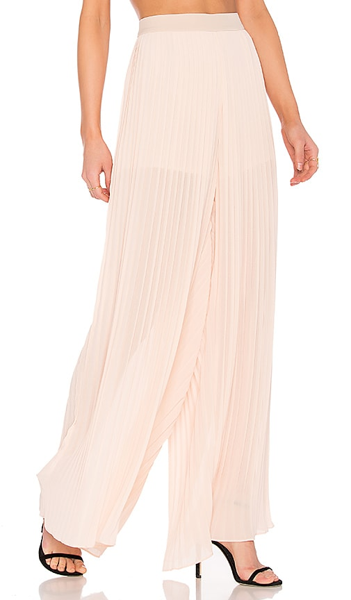 Endless Rose Pleated Palazzo Pants in Pink