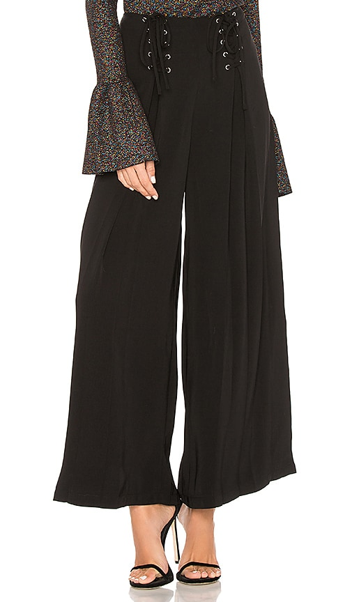 Endless Rose Palazzo Pants in Black