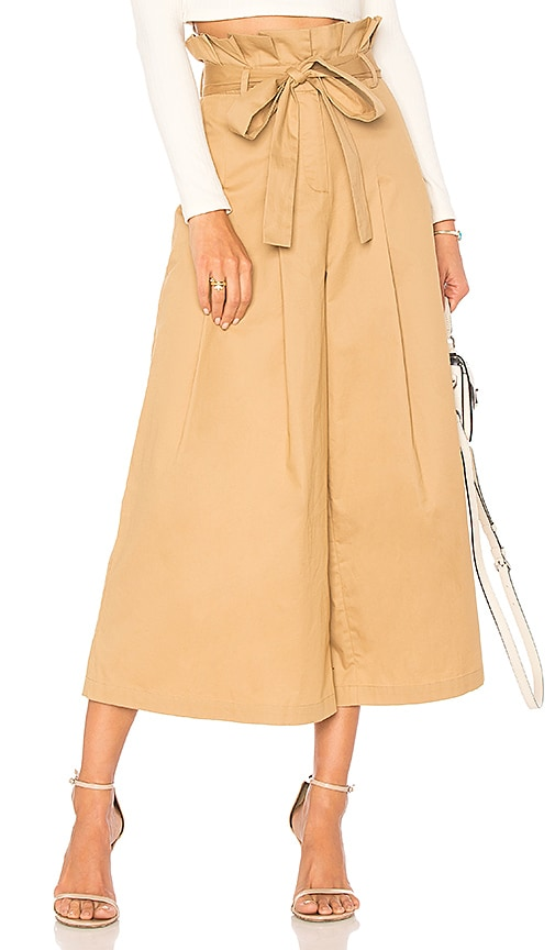 Endless Rose Paper Bag Pants in Tan