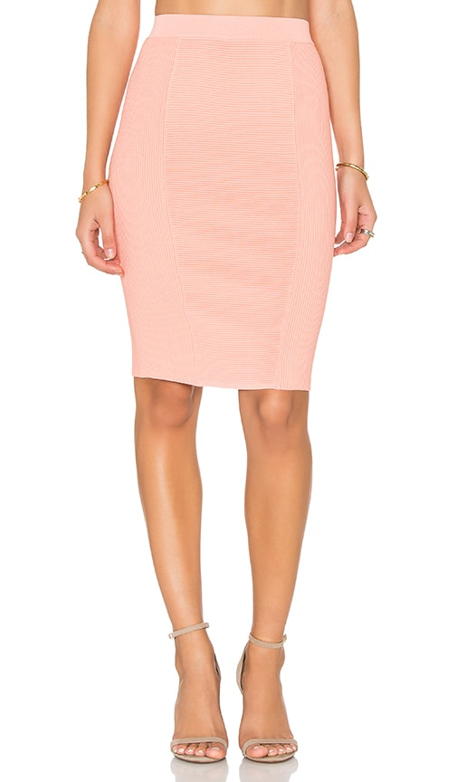 Endless Rose Knit Midi Skirt in Coral