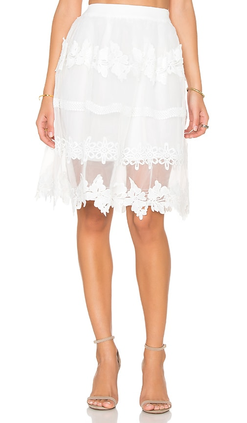 Endless Rose Fayette Skirt in White