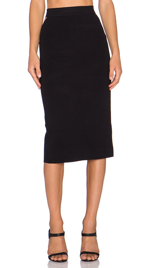 Slit Back Midi Skirt