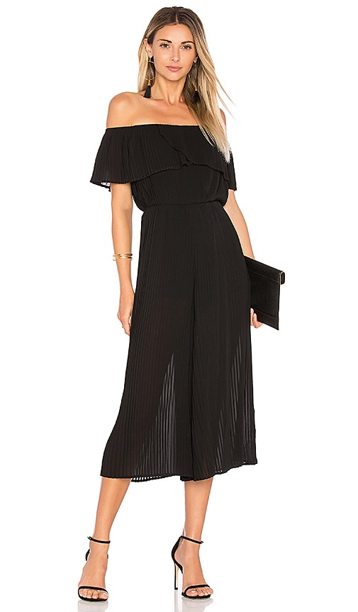 PLEATED OFF SHOULDER JUMPSUIT Endless Rose