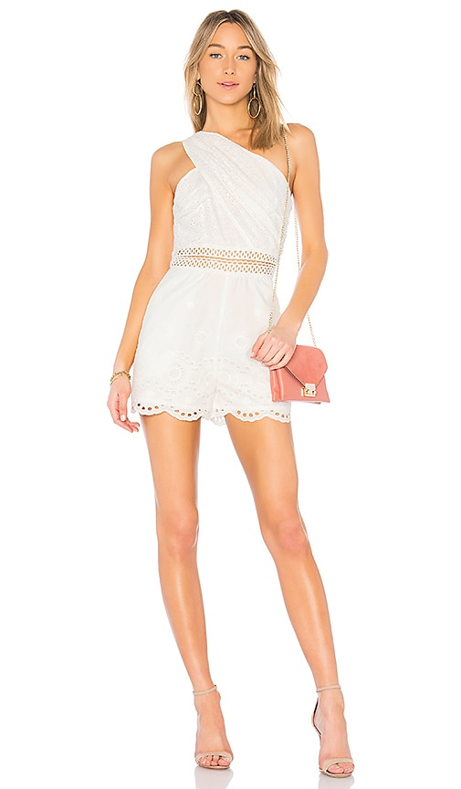 Endless Rose Eyelet Romper in White
