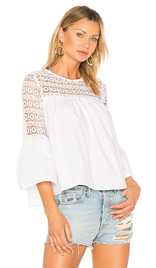 Endless Rose Louvre Top in White