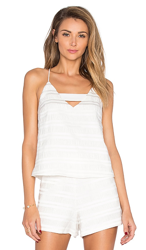 Endless Rose Marielle Woven Top in White