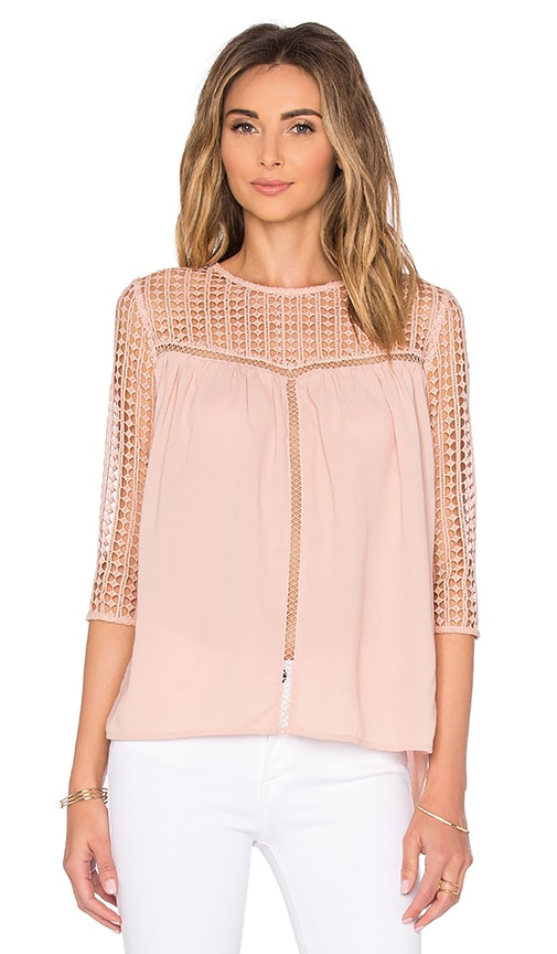 Endless Rose Lace Up Back Top in Nude Pink