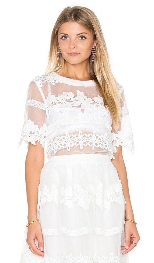 Endless Rose Fayette Top in Off White