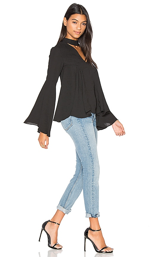 Endless Rose Keyhole Blouse in Black