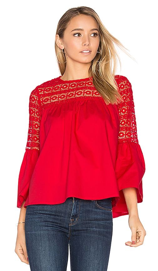 Endless Rose Louvre Top in Red