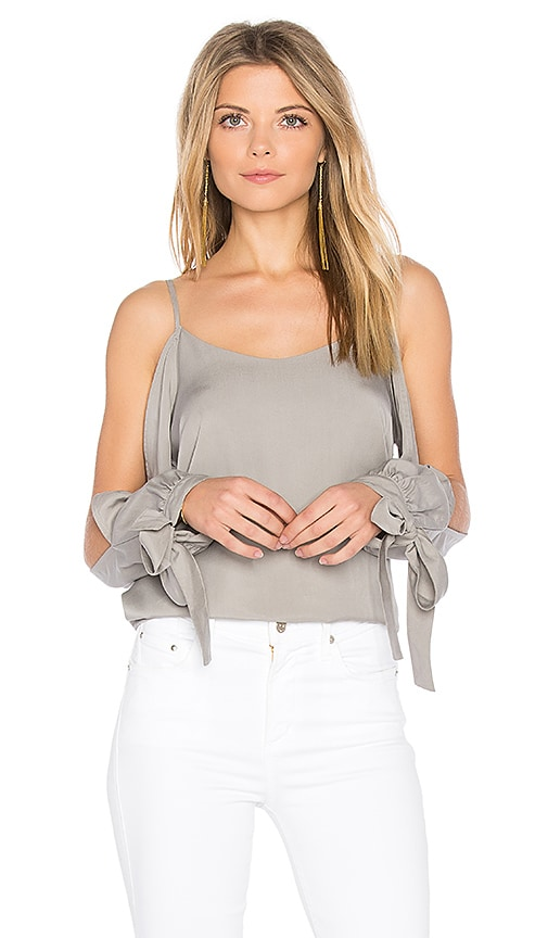 Endless Rose Cold Shoulder Top in Gray