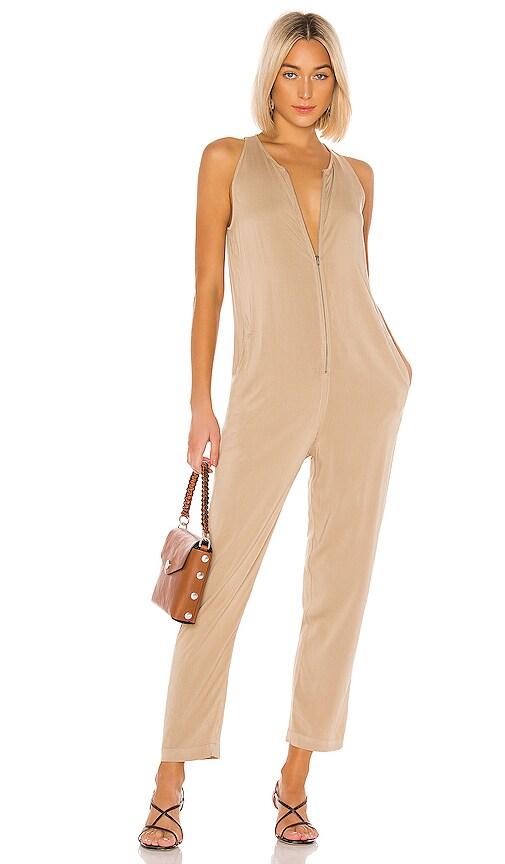 Sleeveless Front Zip Jumpsuit