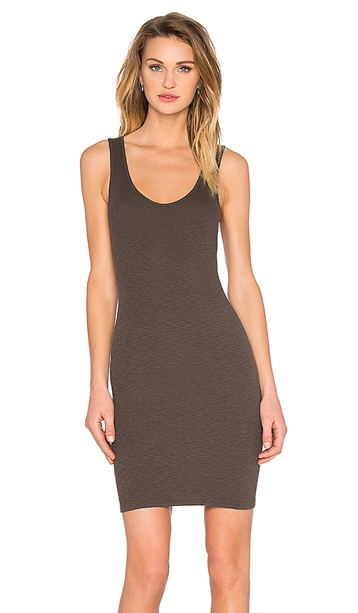 Enza Costa Rib Tank Mini Dress in Olive