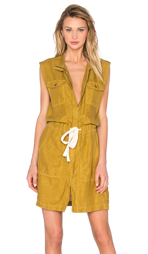 Enza Costa Utility Tank Dress in Olive