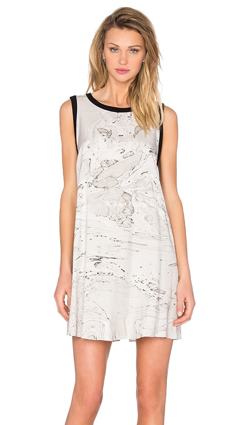 Enza Costa Tent Mini Dress in Marble