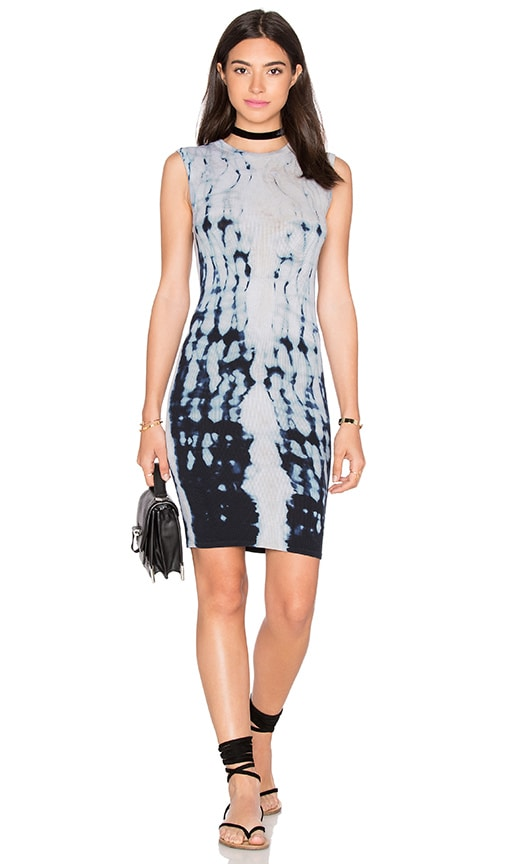 Enza Costa Stretch Silk Rib Sleeveless Mini Dress in Batik