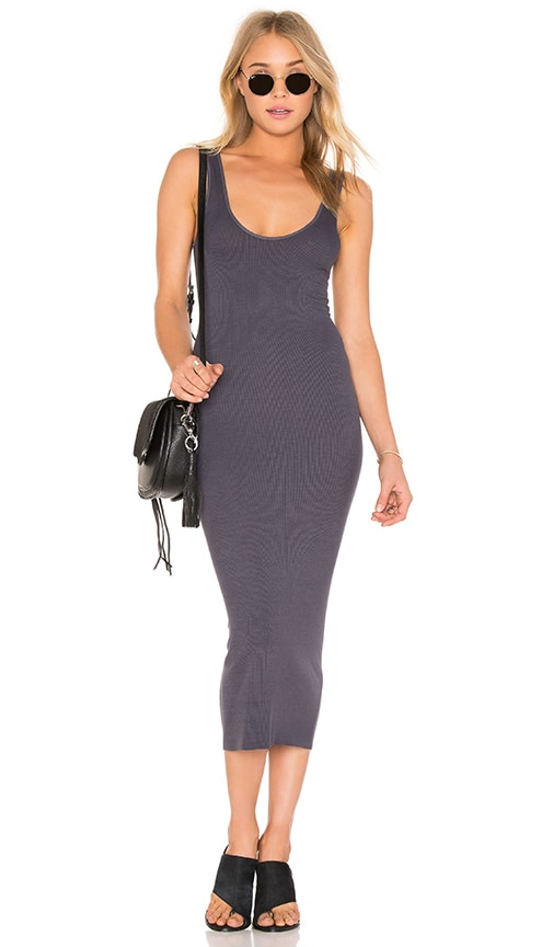 Enza Costa Silk Rib Tank Dress in Tempest