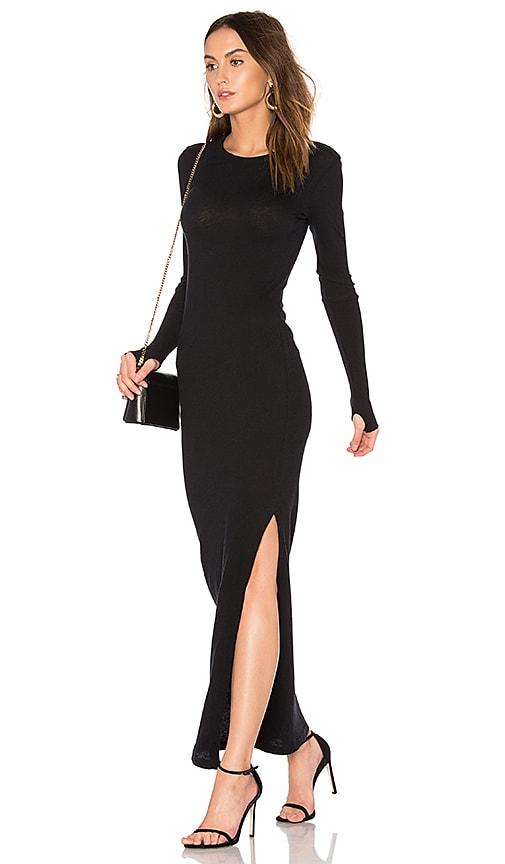 Enza Costa Cashmere Maxi Dress in Black