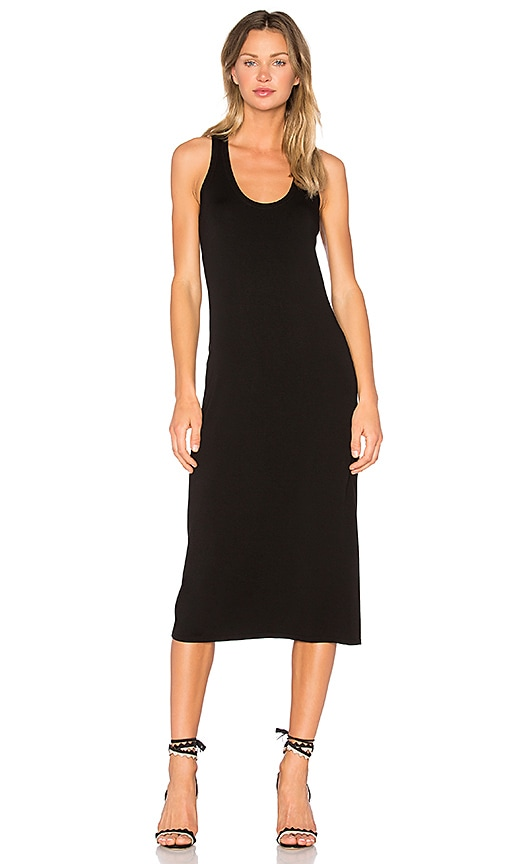 Enza Costa Midi Tank Dress in Black