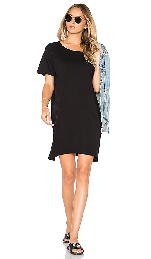 Enza Costa Boy Tee Dress in Black
