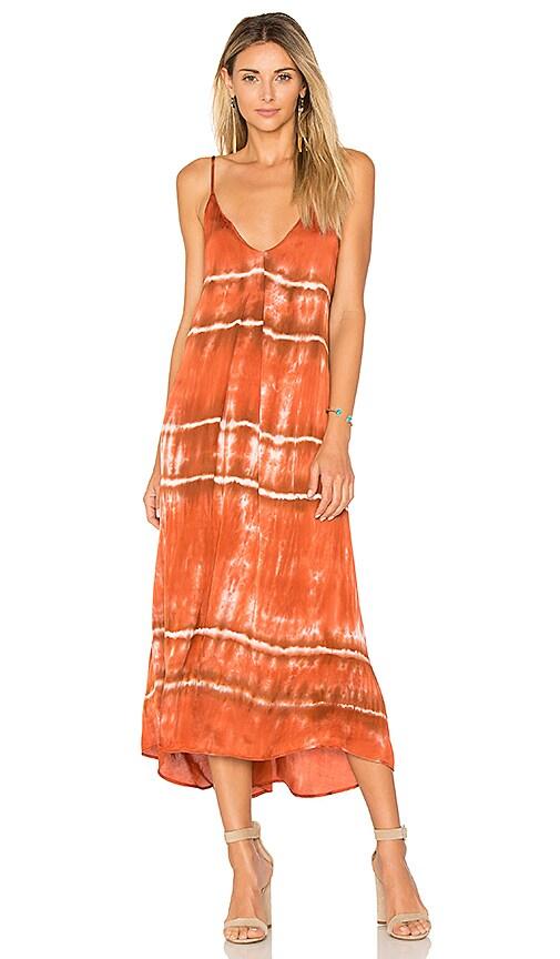 Enza Costa Strappy Slip Dress in Burnt Orange