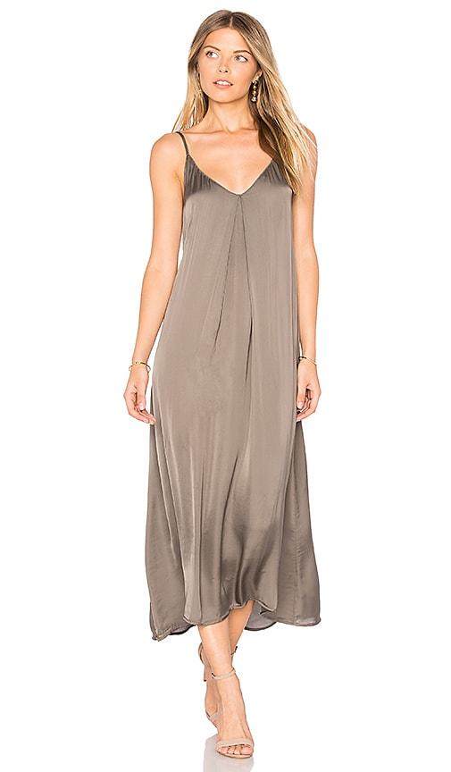 Enza Costa Strappy Slip Dress in Sage