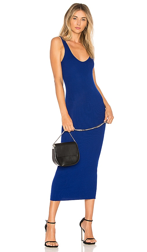 Enza Costa Rib Tank Dress in Royal