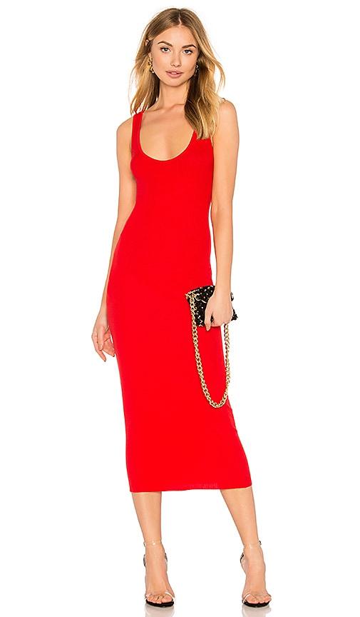 1da3bce41 Enza Costa Rib Tank Dress in Iconic Red | REVOLVE